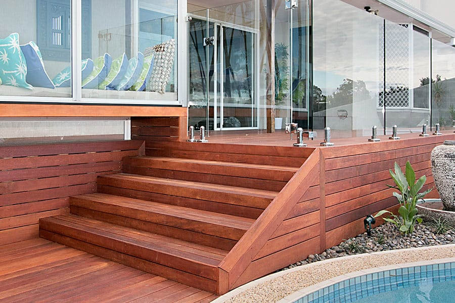 Timber outdoor stairs services designer decks for External timber decking